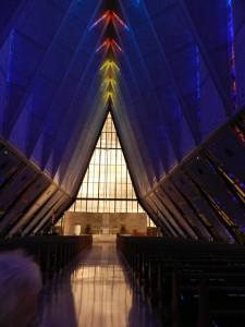 inside USAF cathedral