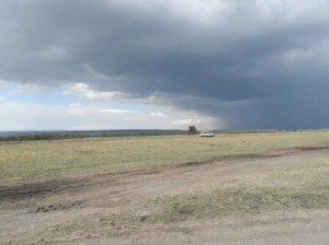 rain clouds and plains